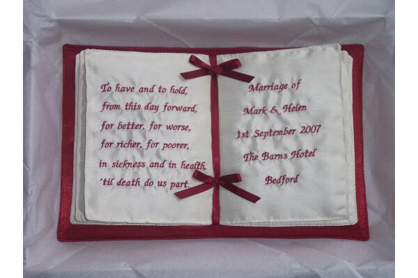 Personalised Ring Cushions and Wedding Ring Bearer Pillows